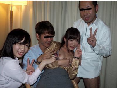 〔泥酔〕忘年会の二次会で乱交パーティーwお酒によっておじさん達に犯されるお姉さんをハメ撮り撮影!
